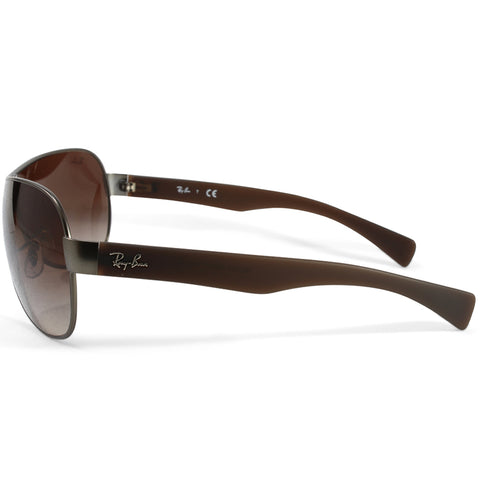 287a570453a ... Ray-Ban RB3471 029 13 Youngster Gunmetal Brown Gradient Shield  Sunglasses ...