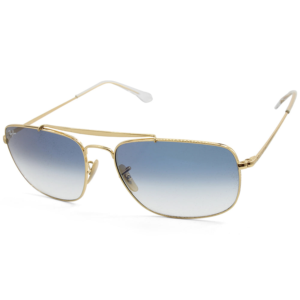 Ray-Ban RB3560 001/3F The Colonel Gold/Blue Gradient Men's Metal Sunglasses