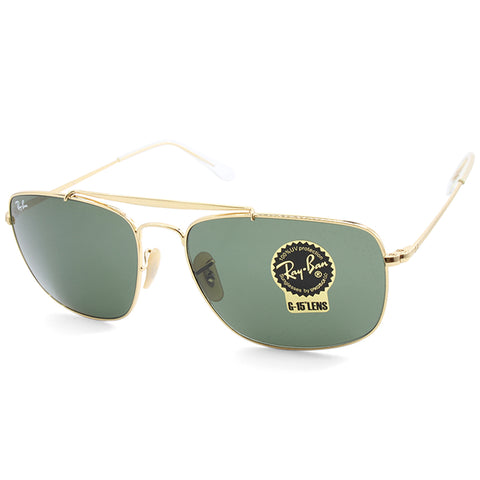 04e0a0b26d Sale Ray-Ban RB3560 001 The Colonel Gold Green G15 Men s Metal Sunglasses