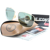 Ray-Ban RB3560 001 The Colonel Gold/Green G15 Men's Metal Sunglasses