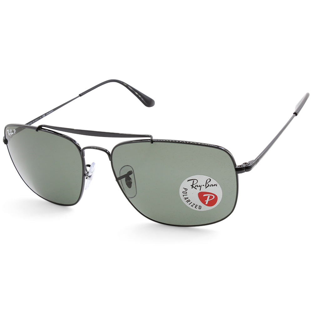 333b6d64ccb Ray-Ban. Ray-Ban RB3560 002 58 The Colonel Black Green Polarised Men s  Metal Sunglasses