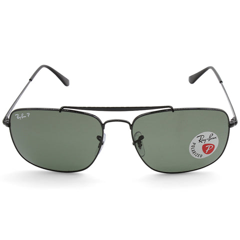 557dc8ce65 ... Ray-Ban RB3560 002 58 The Colonel Black Green Polarised Men s Metal  Sunglasses ...