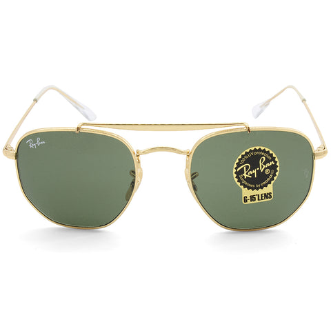c4a6ec626eb ... Ray-Ban RB3648 001 The Marshal Gold Green G15 Unisex Metal Sunglasses  ...
