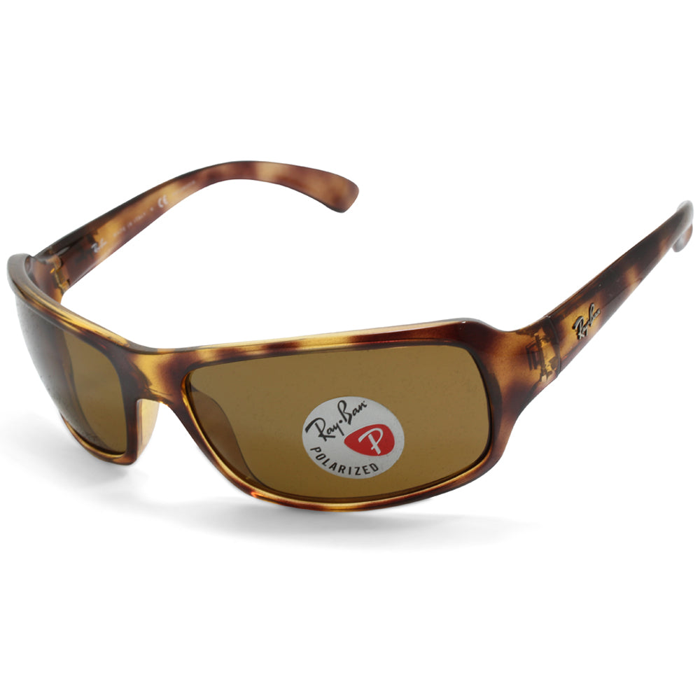 Ray-Ban RB4075 642/57 Polished Tortoise/Brown Polarised Unisex Wrap Sunglasses