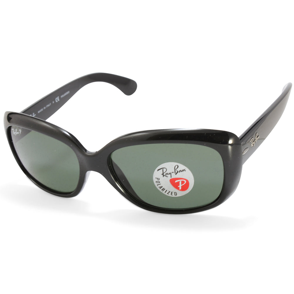 Ray-Ban RB4101 601/58 Jackie Ohh Polarised Black/Grey Green Women's Sunglasses