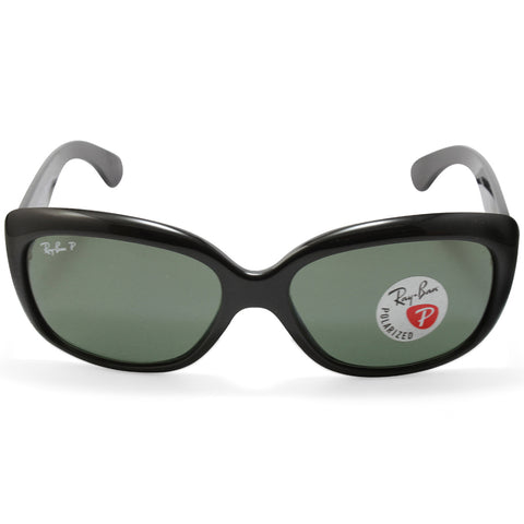 9da3a6334fe ... Ray-Ban RB4101 601 58 Jackie Ohh Polarised Black Green Women s  Sunglasses ...