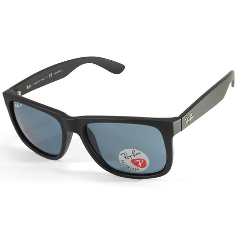 9b320087f4f4b Sale Ray-Ban RB4165 622 2V Justin Matte Black Blue Classic Polarised  Sunglasses