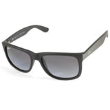 Ray-Ban RB4165 622/T3 Justin Matte Black/Grey Gradient Polarised Sunglasses