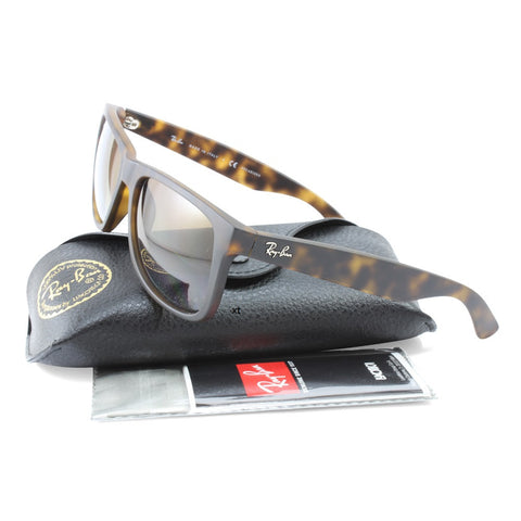 b0f94c2cc1 ... Ray-Ban RB4165 865 T5 Justin Matte Tortoise Brown Gradient Polarised  Sunglasses