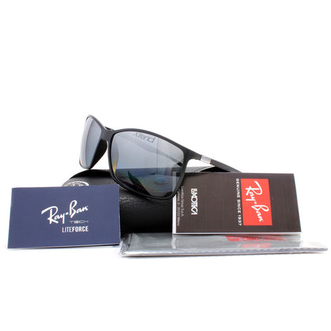 a0fe692045 ... Ray-Ban RB4179 601S82 Liteforce Matte Black Silver Mirror Polarised  Sunglasses