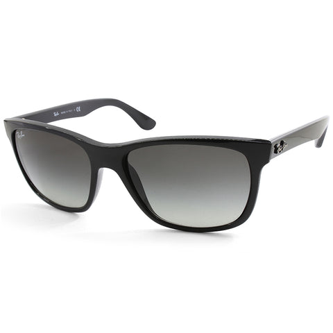 Ray-Ban Highstreet RB4181 601/71 Polished Black/Grey Gradient Unisex Sunglasses