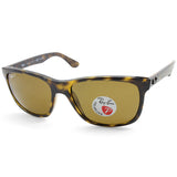 Ray-Ban Highstreet RB4181 710/83 Polished Havana/Brown Polarised Unisex Sunglasses