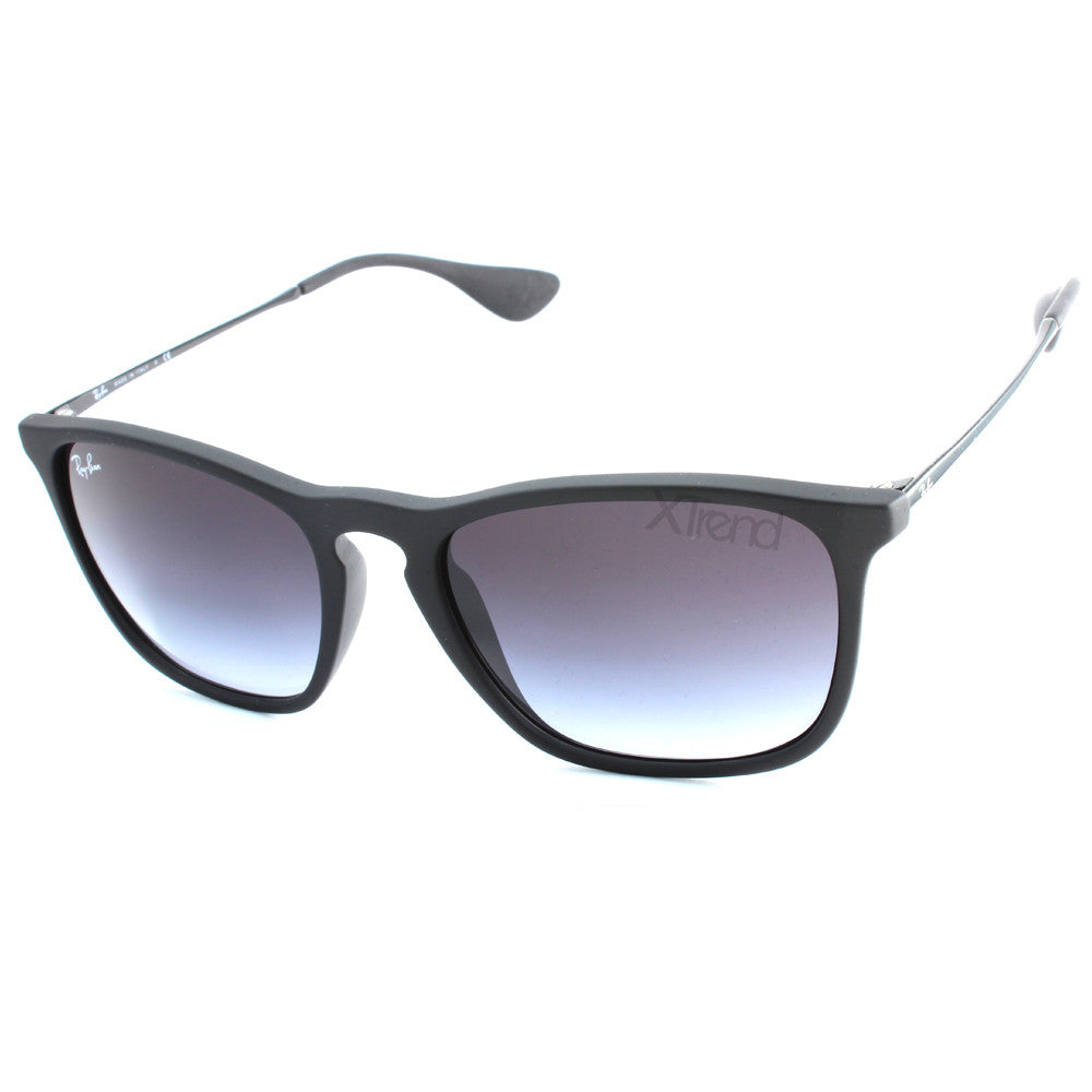 Ray-Ban RB4187F 622/8G Matte Black/Grey Gradient Asian Fit Men's Sunglasses