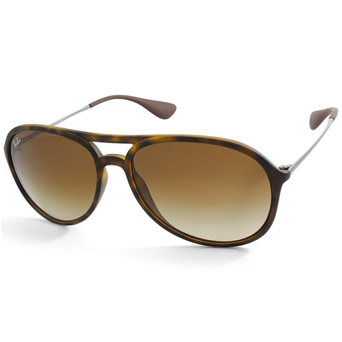 Ray-Ban Alex RB4201 865/13 Matte Havana/Brown Gradient Unisex Sunglasses