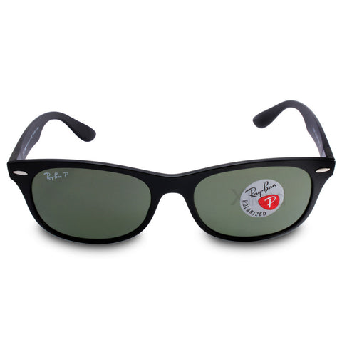 490a6450e3 ... Ray-Ban RB4207 601S9A New Wayfarer Liteforce Black Green Polarised  Sunglasses ...