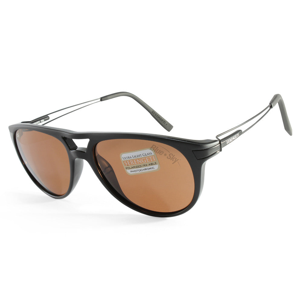 fde8d30a67 Serengeti Udine 7758 Black Brown Polarised Unisex Sunglasses – xTrend