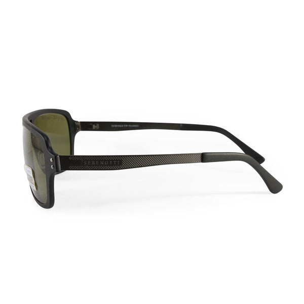03aff64b0946 Serengeti Nunzio 7837 Satin Black Green Polarised Men s Sunglasses – xTrend