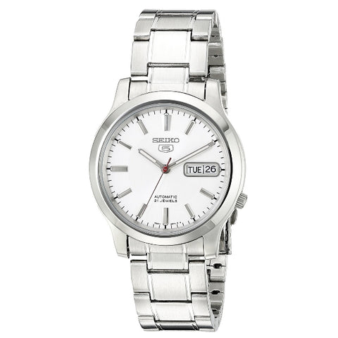 Seiko 5 SNK789 K1 White Dial Stainless Steel Men's Automatic Analog Watch