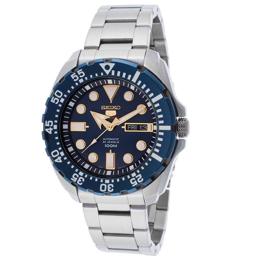 3a41d2540 Seiko 5 Sports SRP605 K1 Blue Dial Stainless Steel Men's Analog Watch –  xTrend