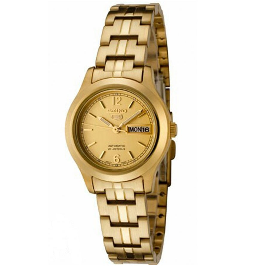 Seiko 5 SYME02 K1 All Gold Women's Automatic Analog Watch