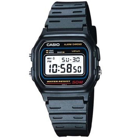 Casio W-59-1 Black Resin Classic 50m Retro Style Unisex Digital Watch