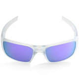 Oakley Crankshaft OO9239-09 Matte Clear/Violet Iridium Polarised Men's Sport Sunglasses