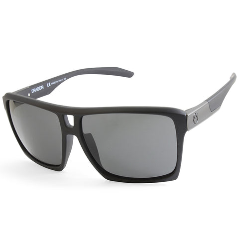 Dragon The Verse Matte Black/Grey Men's Rectangular Sports Sunglasses