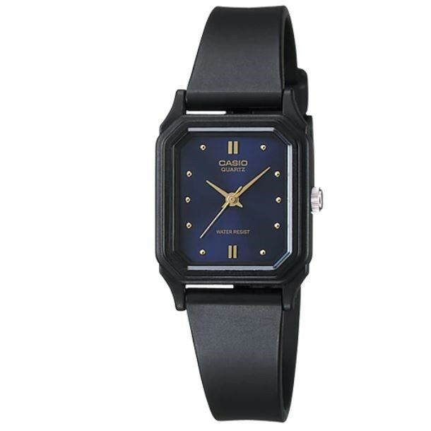 Casio LQ-142E-2A Black with Dark Blue Dial Women's Small Casual Analog Watch