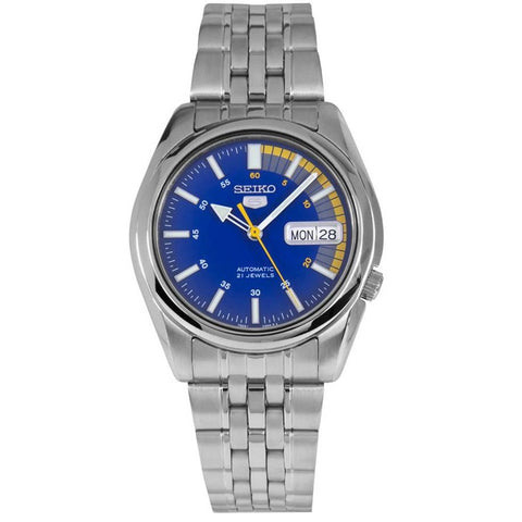 Seiko 5 SNK371 K1 Blue & Yellow Dial Men's Automatic Analog Watch