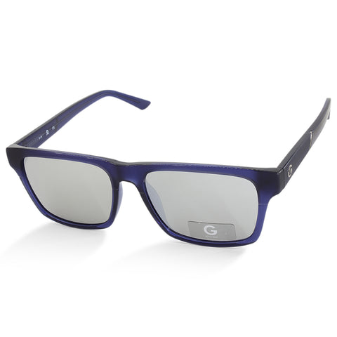 G By Guess GG2134 91C Black on Blue Silver Mirror Men's Sunglasses