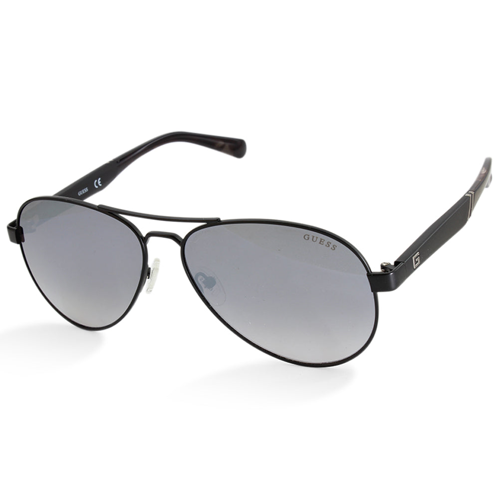 Guess GU6930 05C Black/Silver Mirror Men's Pilot Sunglasses