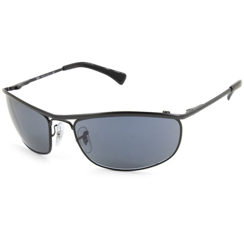 Ray-Ban Olympian RB3119 9161R5 Matte Black/Blue-Grey Men's Sport Sunglasses