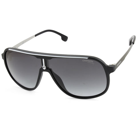 Carrera 1007/S 003-9O Matte Black/Grey Gradient Men's Designer Sunglasses