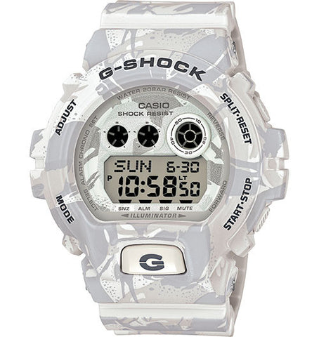 Casio G-Shock GD-X6900MC-7 White Military Camouflage Men's Digital Watch