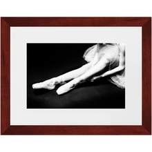 Load image into Gallery viewer, Ballet Tying Ribbon - Contemporary Framed Art Photo