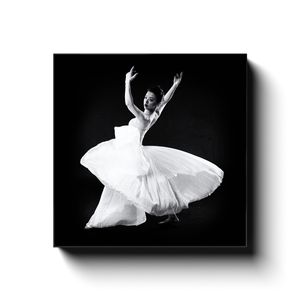 Dancer In A White Dress 4 | Square Canvas Art Print