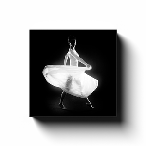 Dancer In A White Dress | Square Canvas Art Print 2
