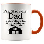 Pig Showing' Dad Accent Coffee Mug