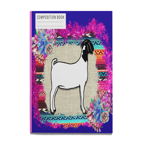 Show Swine Paperback Composition Book