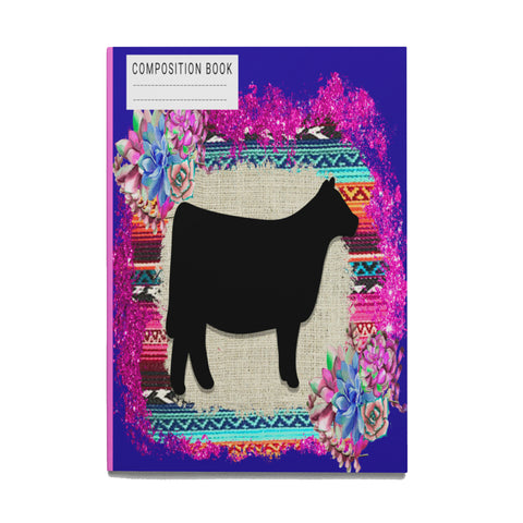 Show Steer Composition Book-College Ruled