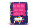 Stock Show Mom-Show Goat Planner, Journal, & Coloring Spiral Book