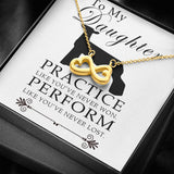 Show Lamb Practice Like You've Never Won Perform Like You've Never Lost Necklace