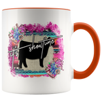 It's Showtime Show Steer Accent Coffee Mug | Livestock Show Cow Mug | 4H School Show Animal | Printed on Both Sides