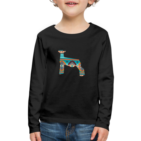 Serape Indian Show Lamb - black