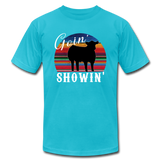 Goin' Showin' Show Steer Tshirt - turquoise