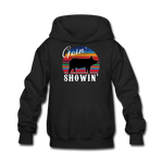 Goin' Showin' Show Swine Kids' Hoodie - black