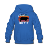 Goin' Showin' Show Swine Kids' Hoodie - royal blue