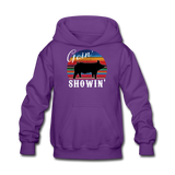 Goin' Showin' Show Swine Kids' Hoodie - purple
