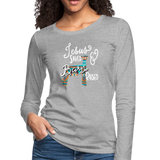 Show Lamb Southwest Indian Design-Jesus Saved & Barn Raised - heather gray