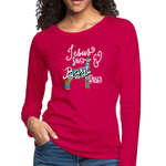 Show Lamb Southwest Indian Design-Jesus Saved & Barn Raised - dark pink